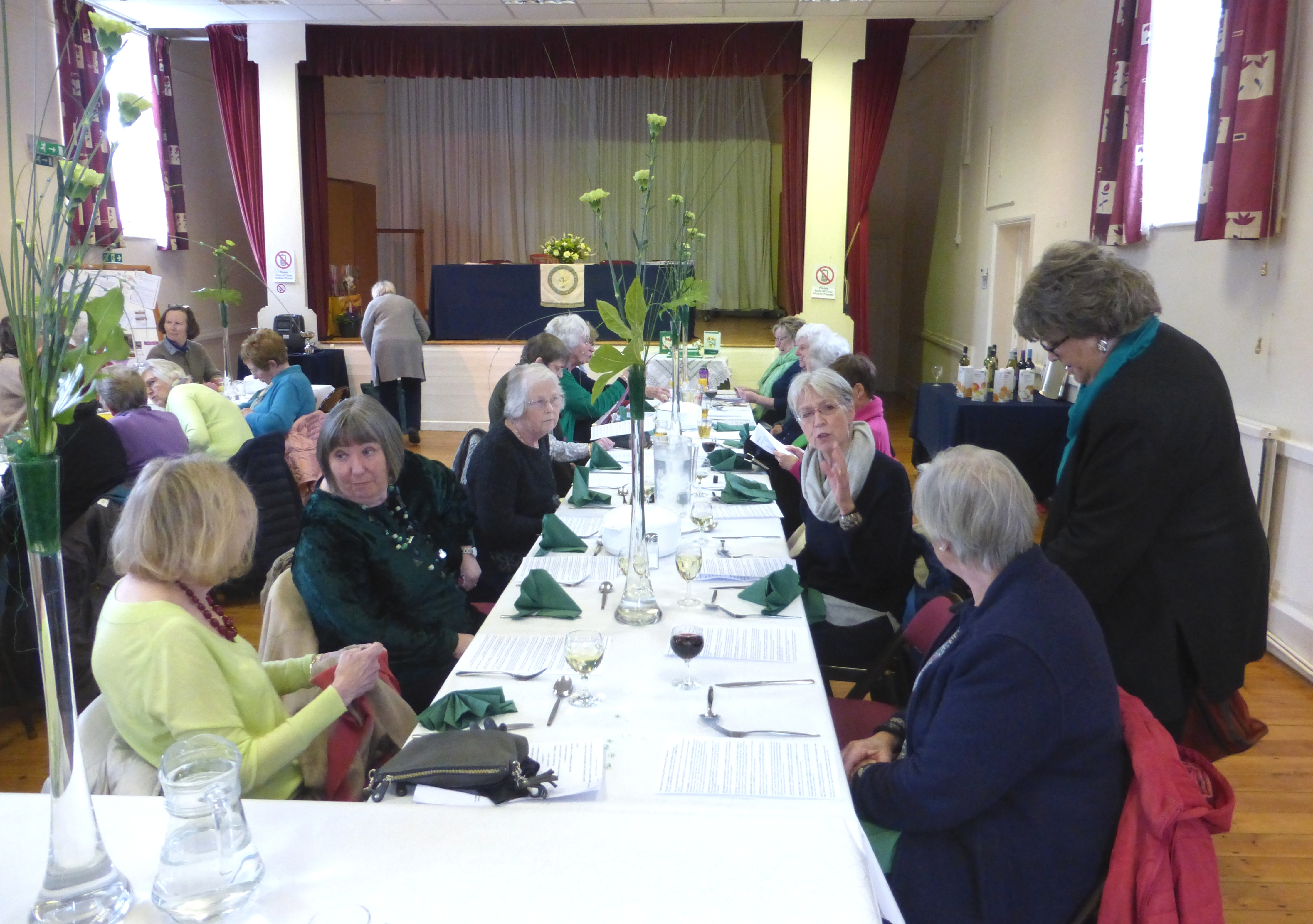 Thame Flower Club AGM & Lunch. 55th Emerald Anniversary 2017